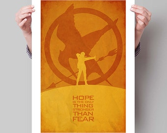 "THE HUNGER GAMES Inspired ""Hope"" Minimalist Movie Poster Print - 13""x19"" (33x48 cm)"