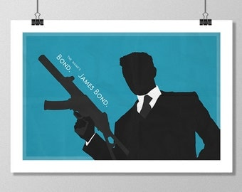 "JAMES BOND Inspired Casino Royale Minimalist Movie Poster Print - 13""x19"" (33x48 cm)"