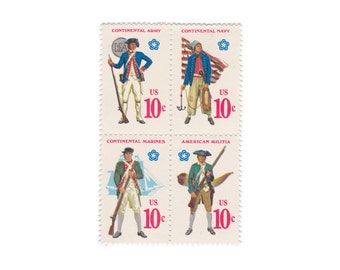 Military Services // 1975 Unused US Postage Stamps // Qty of 12 // No. 1568