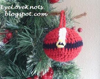Santa Bauble Ornament, Crocheted Santa Ornament, Handmade Santa Ornament, Handmade Bauble Ornament, Textured Ornament, MADE TO ORDER