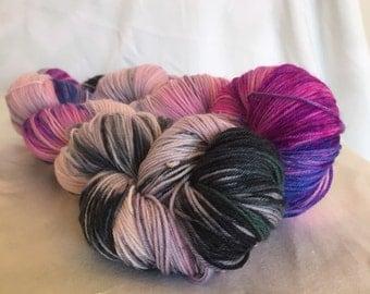Mermaid Dance - platinum sock - hand dyed yarn
