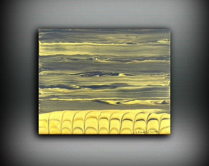 ORIGINAL Painting, Art Painting Acrylic Painting Abstract Painting Gold Wall Hanging Small Wall Art Modern Wall Decor 8x10 Gold Painting