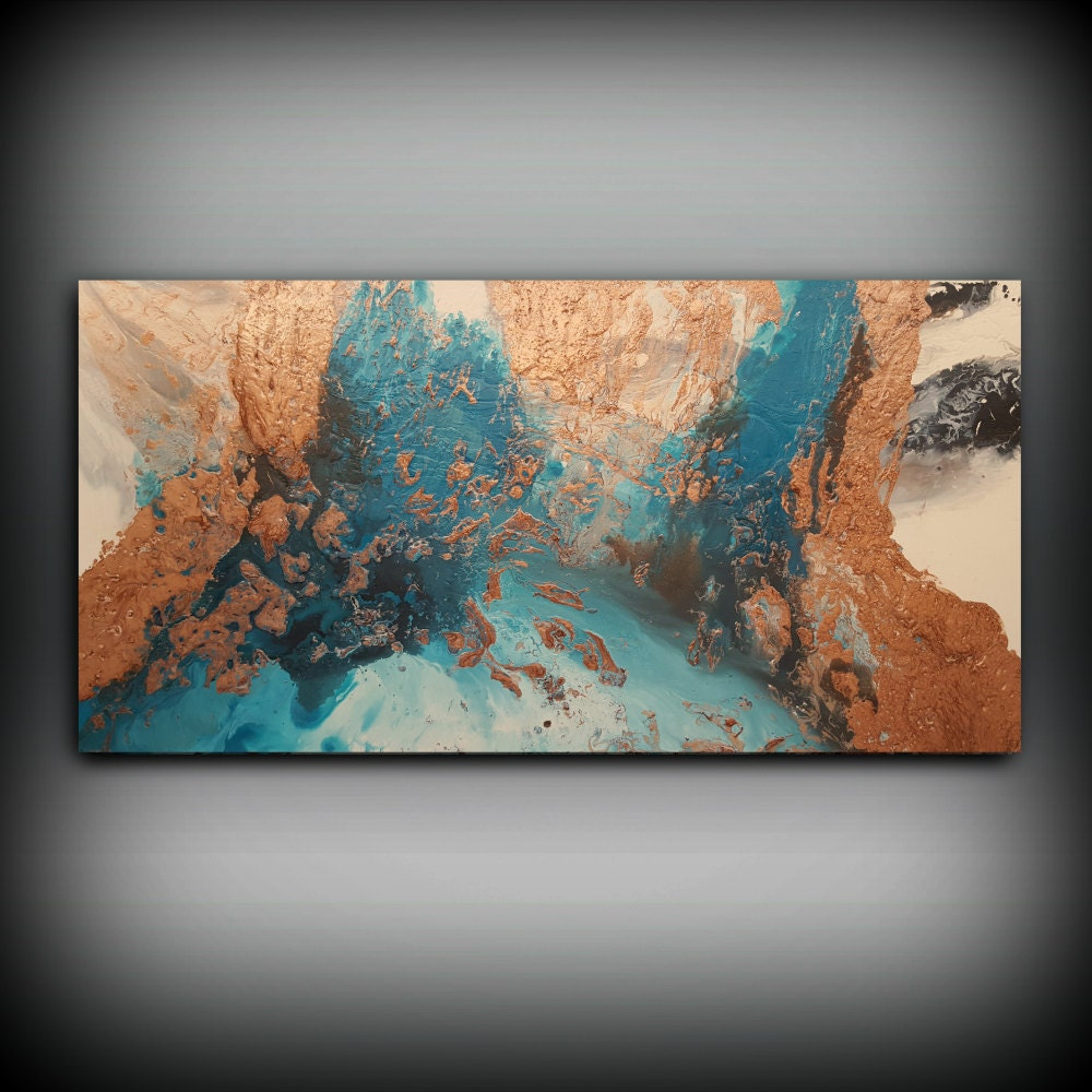 Wall Hanging Artwork : Original painting art acrylic abstract