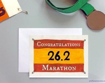 Congratulations Marathon card 26.2, Marathon card, congratulations marathon 26point2 card