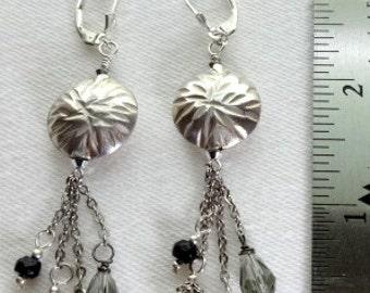 Hill Tribe Silver & Swarovski Earrings
