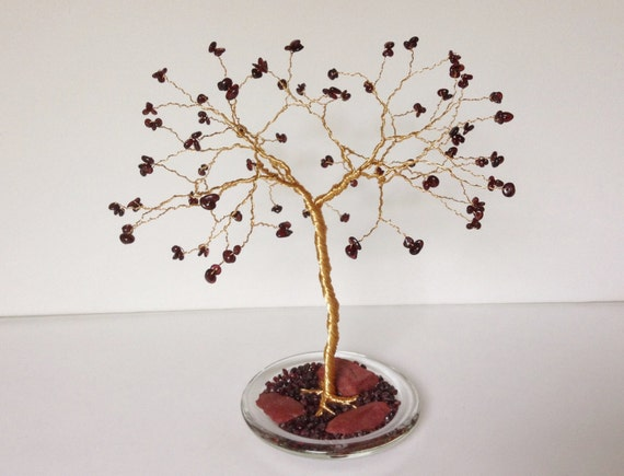 ruby tree sculpture 40th wedding anniversary gift by josoko