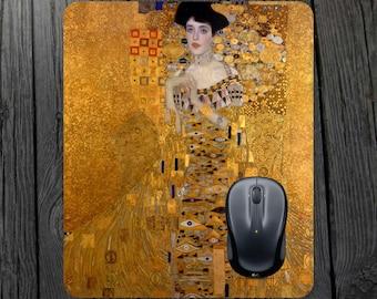 Portrait of Adele Mouse pad Gustav Klimt print Gustav Klimt mouse pad Gustav Klimt mousepad Klimt mousepad Adele painting Adele print