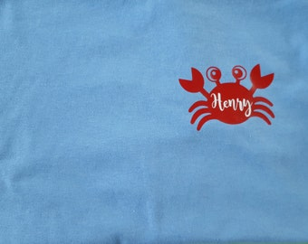"Youth Crab ""Name"" T-shirt - Summer - Cute - Kids"