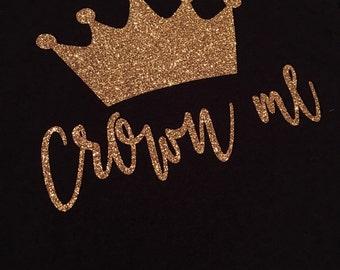 Crown Me Glitter Tee