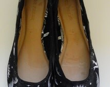 Ouija Fabric Covered Ballet Shoes