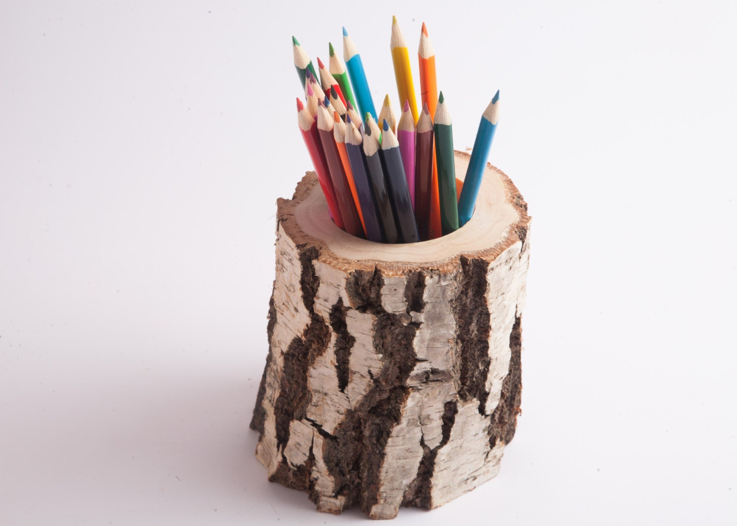 Wooden pen and pencil holder home decor rustic wedding