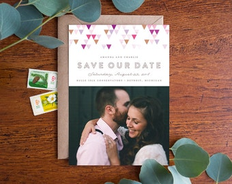 Wedding Save the Date - Mod - Photo & Non-Photo