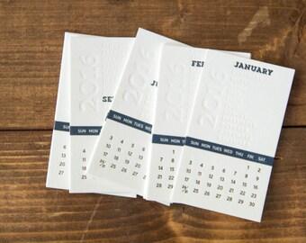 SALE - now 20% off!** 2016 Desk Calendar - Month Letterpress Desk Calendar *REFILL - No Base*