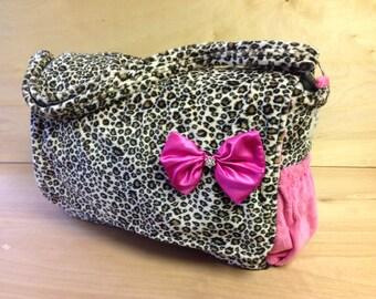 Diaper Bag - Cheetah and Hot Pink