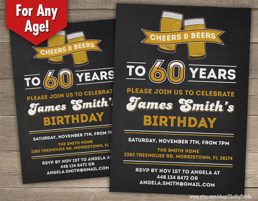 60th birthday party invitation free printable sixtieth party invite 60th birthday invitations for him free birthday invitation printable stopboris Images
