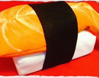 Sushi-shaped pillow 45 x 30 x 15 cm handmade