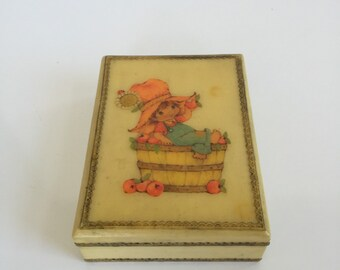 Vintage Cute Trinket Box from the Seventies