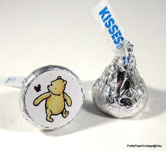 winnie the pooh hershey kiss stickers baby by. Black Bedroom Furniture Sets. Home Design Ideas