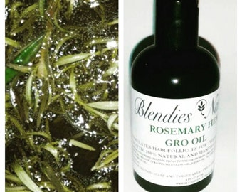 Long Hair Oil , Rosemary Infused Hempseed Oil, Hair growth, Dry scalp, Dandruff Relief  4oz