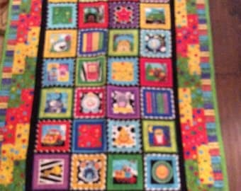 """What would the....... do? Children's quilt (52"""" x 36"""")"""