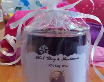 Large Black Cherry & Frankincense Candle