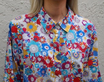 Liberty Print blouse in Sunflower Print Liberty of London