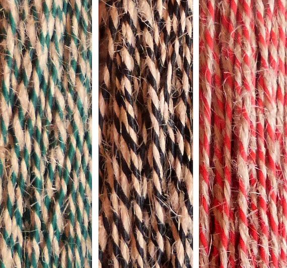 Colored JUTE TWINE Yarn / 50 meters yards Jute String by ...