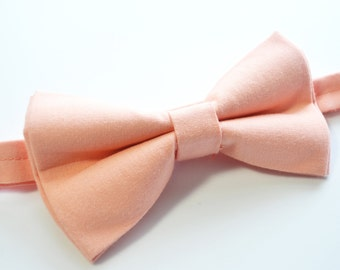Peach bow tie For baby/Toddler/Teen/Adult/with Adjust strap/Clip on