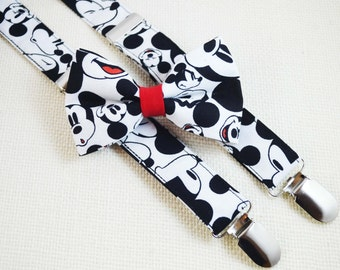Disney Mickey Mouse Bow tie and Suspender Set for baby/toddler/teen/adult suspender