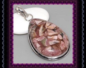 Copper Rhodochrosite Pendant