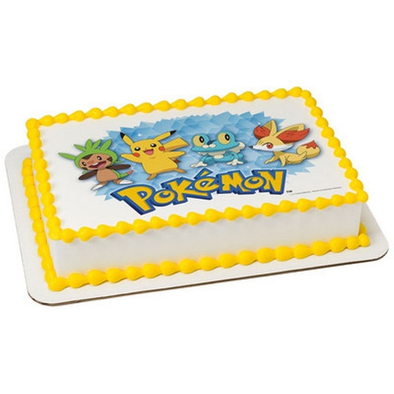 Edible Cake Decorations Pokemon : Pokemon Licensed Birthday Topper Edible Cake and Cupcake