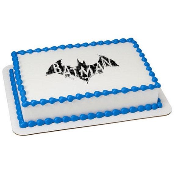 Licensed Edible Cake Images : Batman Logo Licensed Birthday Topper Edible by ArtofEricGunty