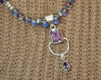 Mystic Topaz Necklace and Earrings