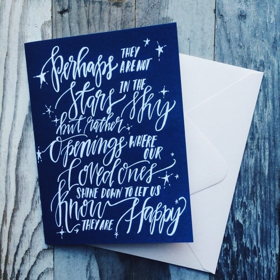 Sympathy card, I'm here for you, loss of a loved one, memorial greeting card, comfort in time of need, gone too soon, stars in the sky