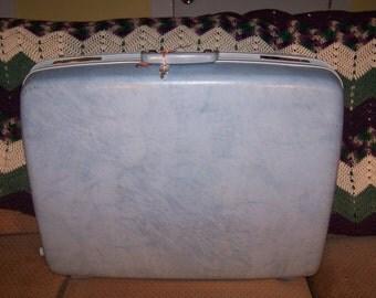 Vintage Blue Samsonite Suitcase