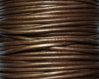 Kansa - 3mm Leather Cord per yard