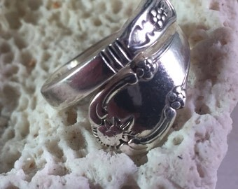 Sterling Silver Spoon Ring Size 7.5