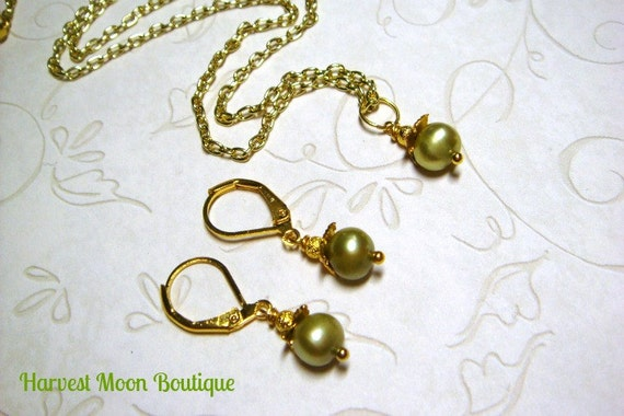Wedding Day Gift Jewelry : Gift for Her Valentines Day Gold Wedding Jewelry Set Gold Bridal ...