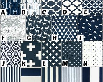 Custom Crib Bedding and Nursery Decor / Design Your Own / Crib Bumper / Crib Skirt / Crib Sheet / Premier Prints / Navy- 1
