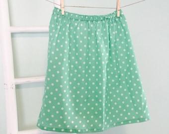 Vintage 1980s Green Polka Dot Skirt