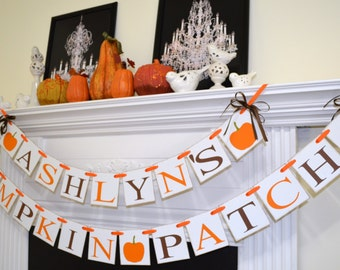 Pumpkin patch banner, Fall Birthday banner, halloween decor, fall decor pumpkin banner, pumpkin sign, Little pumpkin garland, Pumpkin decor
