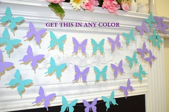 purple butterfly butterfly theme decor birthday decor baby shower
