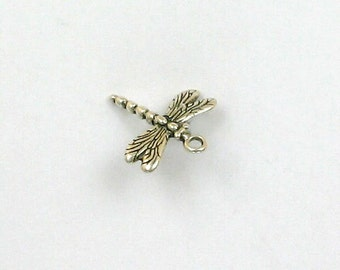 925 Sterling Silver 3D Dragonfly Charm - IN34