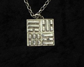 I Ching Pendant, Elements Pendant, Chinese Pendant, IChing