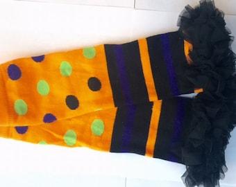 Halloween Ruffle Leg Warmers