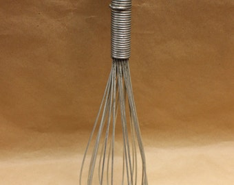 """14"""" Steel Wire Wisk French Made c.1880"""