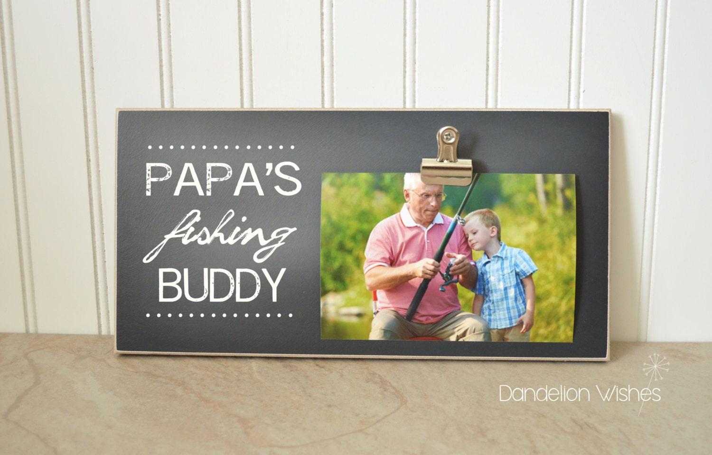 Fisherman Photo Frame Gift For Papa Gift For Grandpa Custom