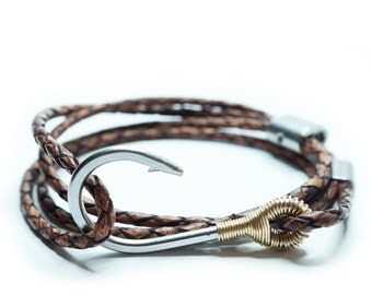 9ct Gold Customizable Hook & Rigging Anti-Slip Bracelet