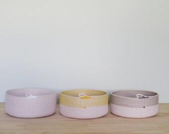 Large Rope Bowl - Perfect Toy or Fruit Bowl - Housewarming or Wedding Gift