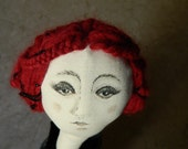 Adele, cloth doll, textile art